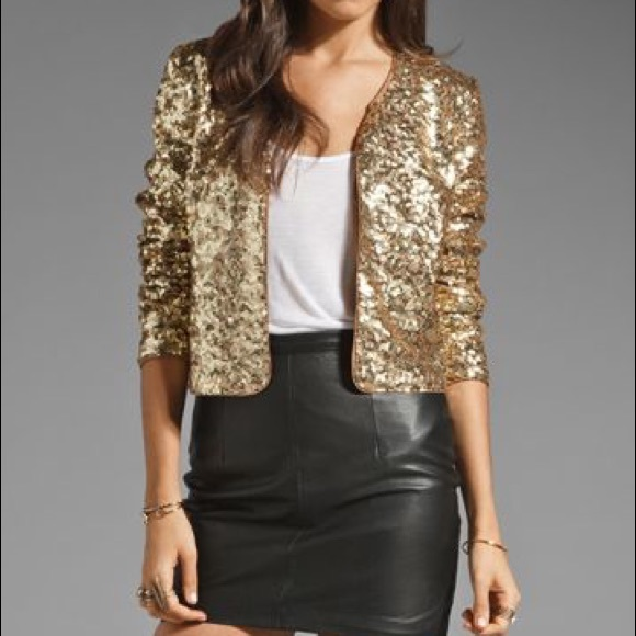 a03ee45c2 Two Toned Gold Sequin Jacket